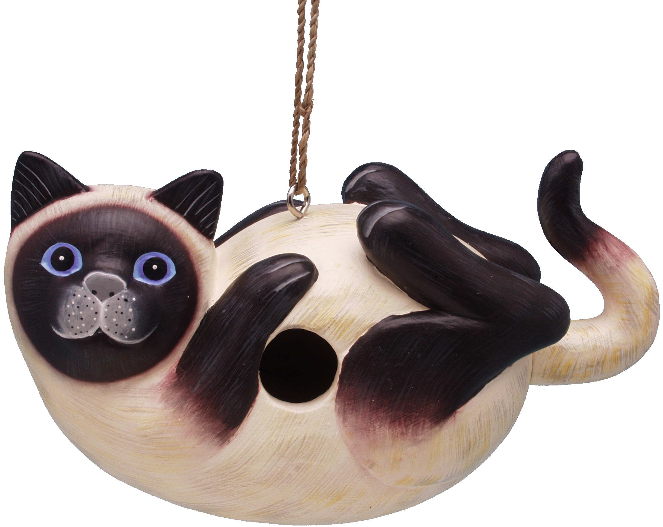 Siamese Cat on Back Birdhouse