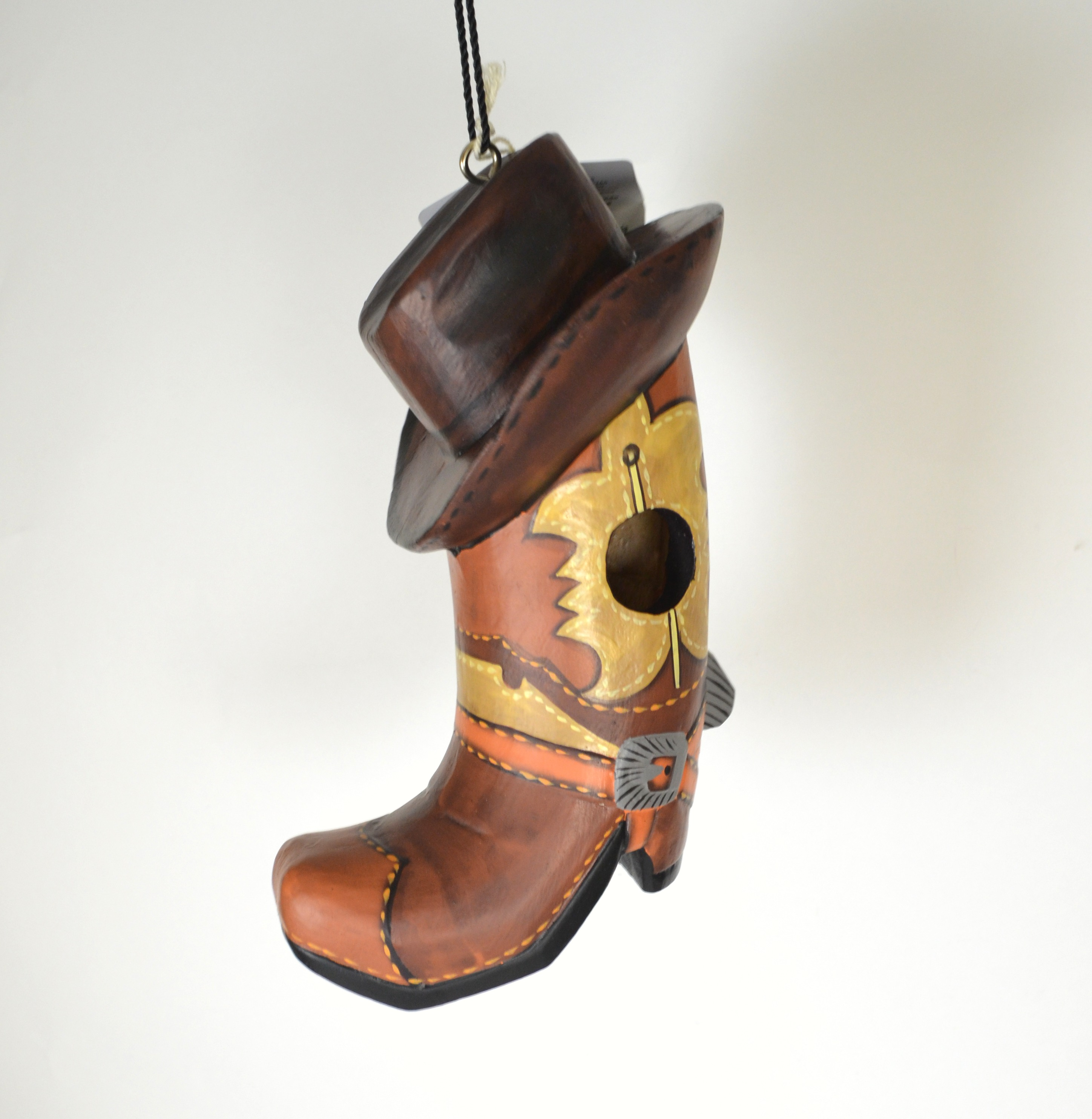 Cowboy Boot withHat Bird House