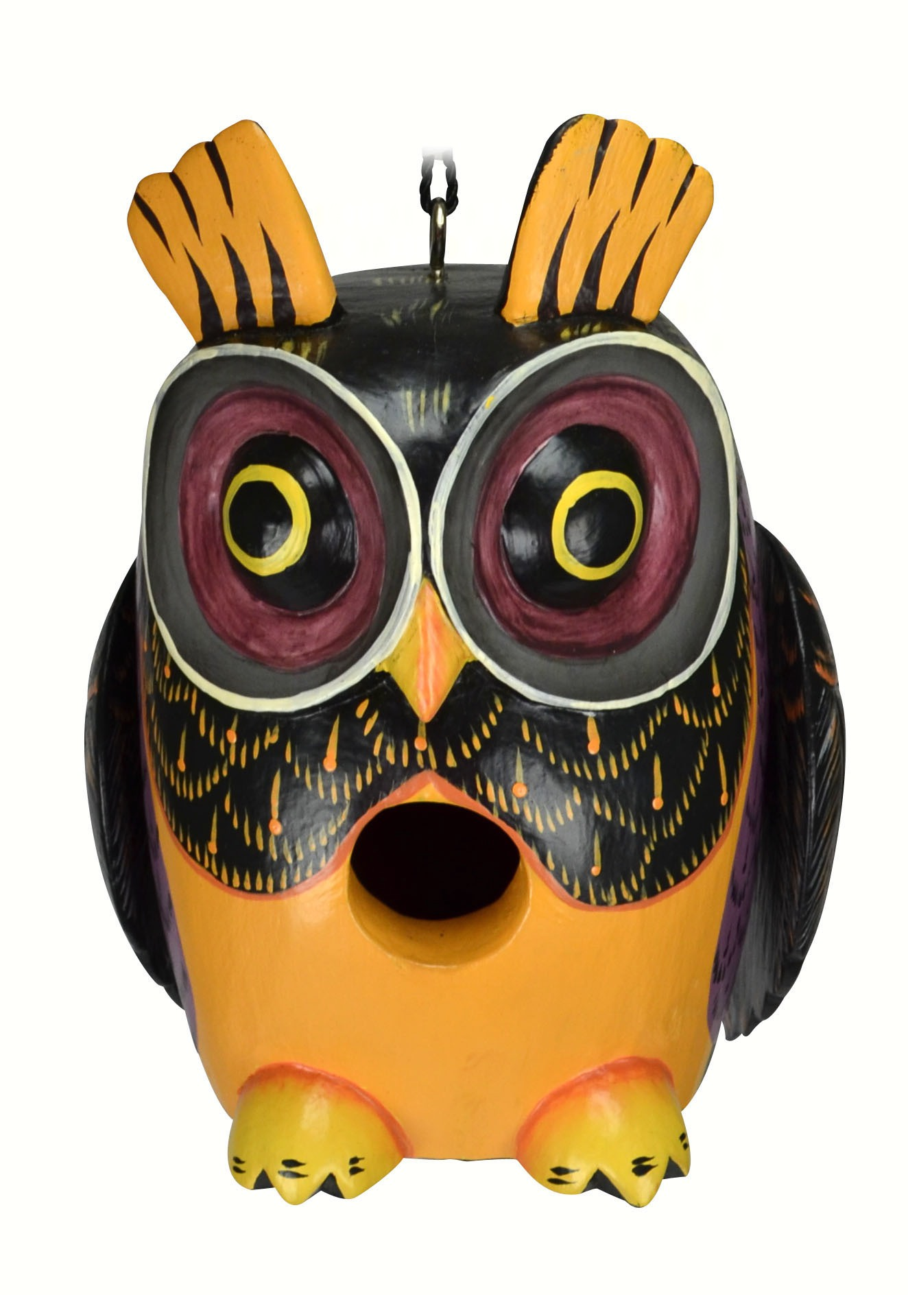Fall Colors Owl Gord-O Birdhouse