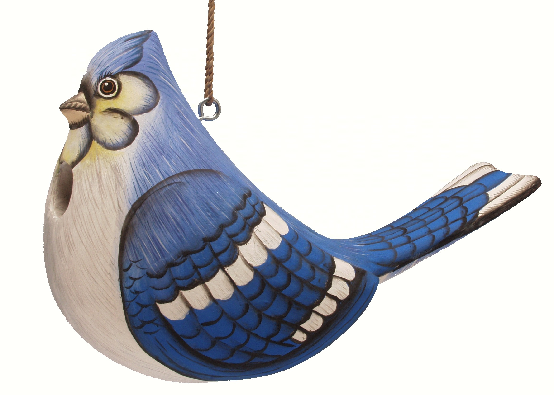 Fat Blue Jay Birdhouse