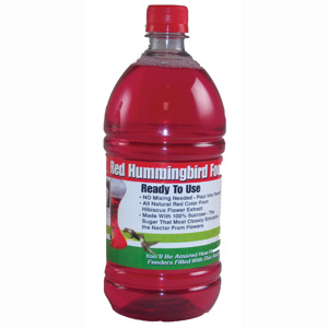1 Liter (33.8 oz) Red RTU Hum. Nectar All Natural- No Dyes