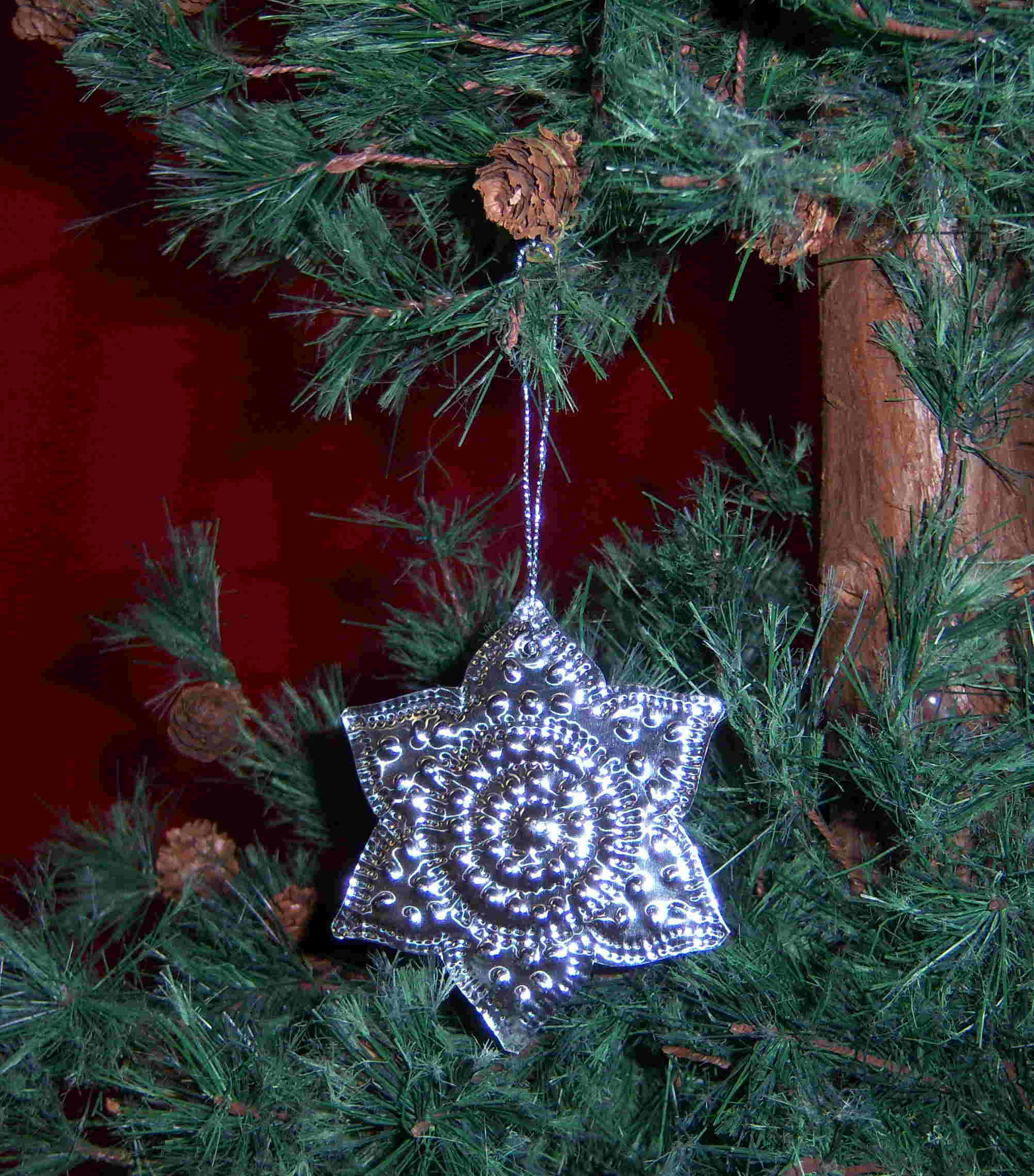 Ornament Punched Metal Flower