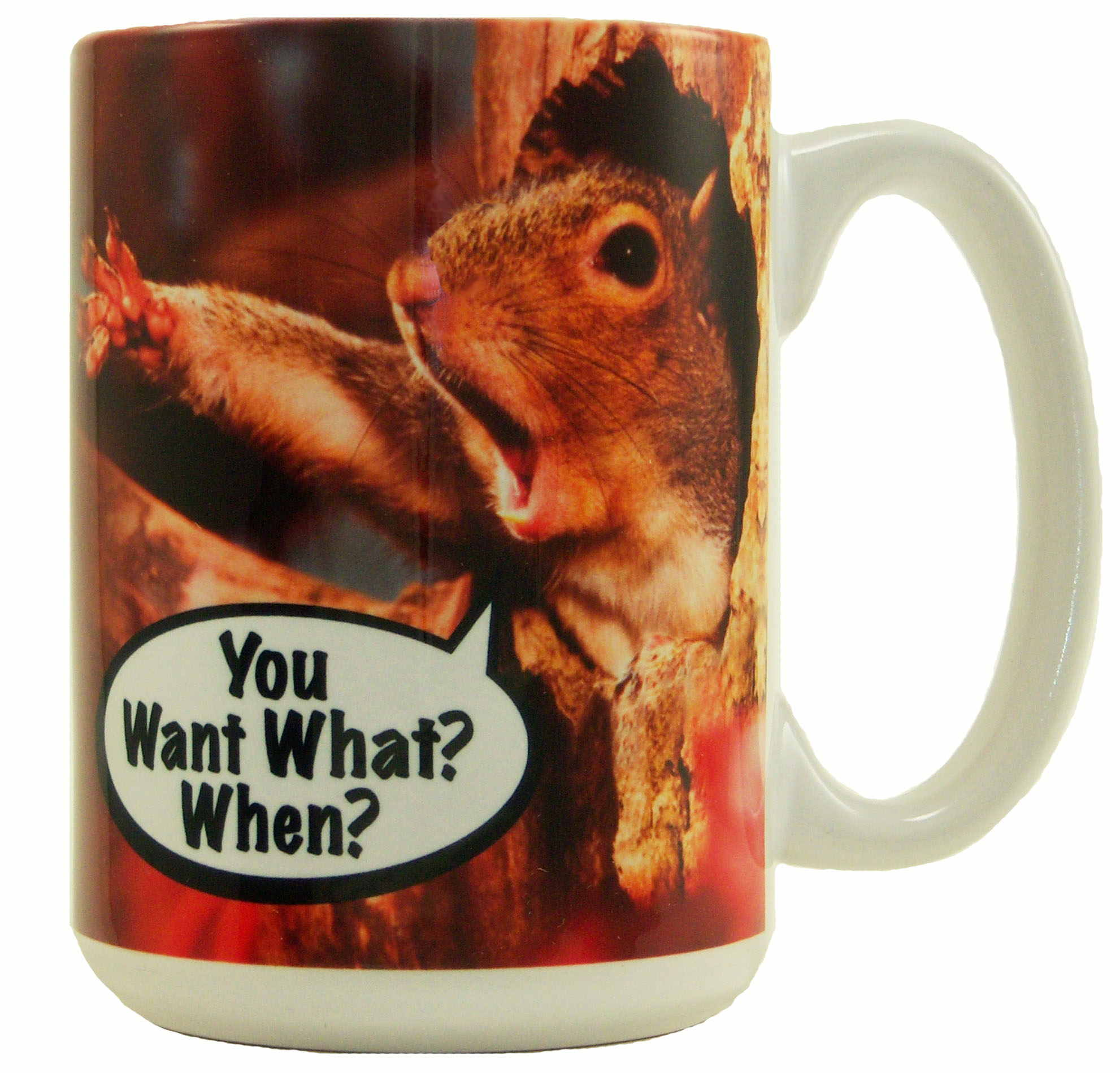 "Mug 15oz ""You Want What When?"""