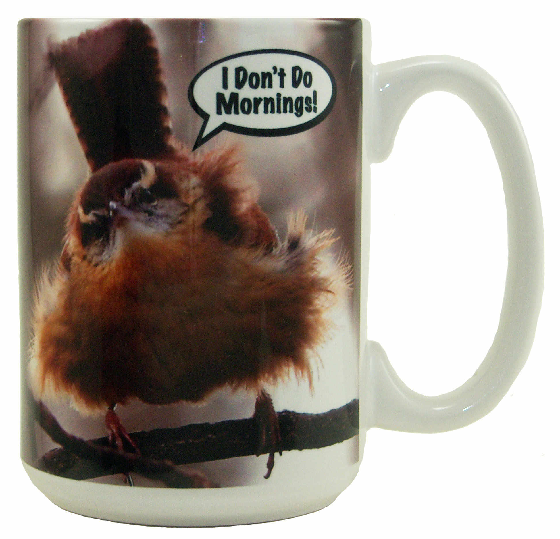 "Mug 15oz ""I Don't Do Mornings"""