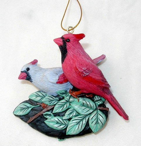 Cardinal Pair Ornament