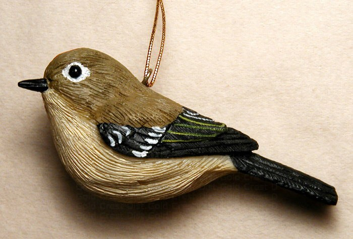 Ruby Crowned Kinglet Ornament