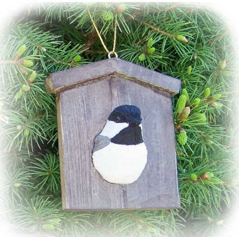 Chickadee House Ornament