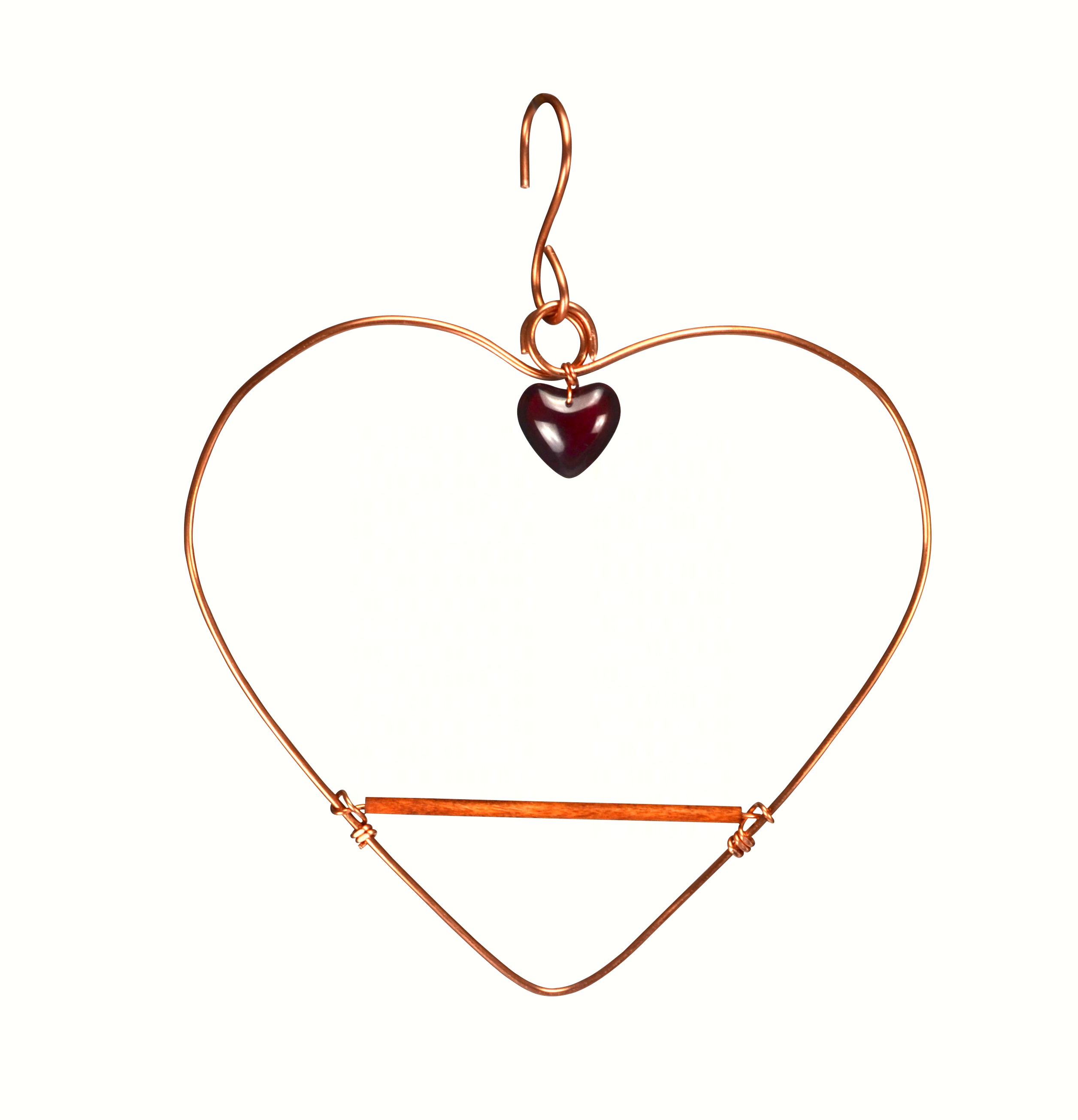 Solid Copper Tweet Heart Swing