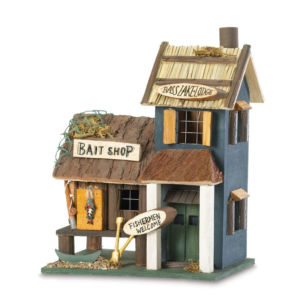 Bass Lake Lodge Wood Bird House