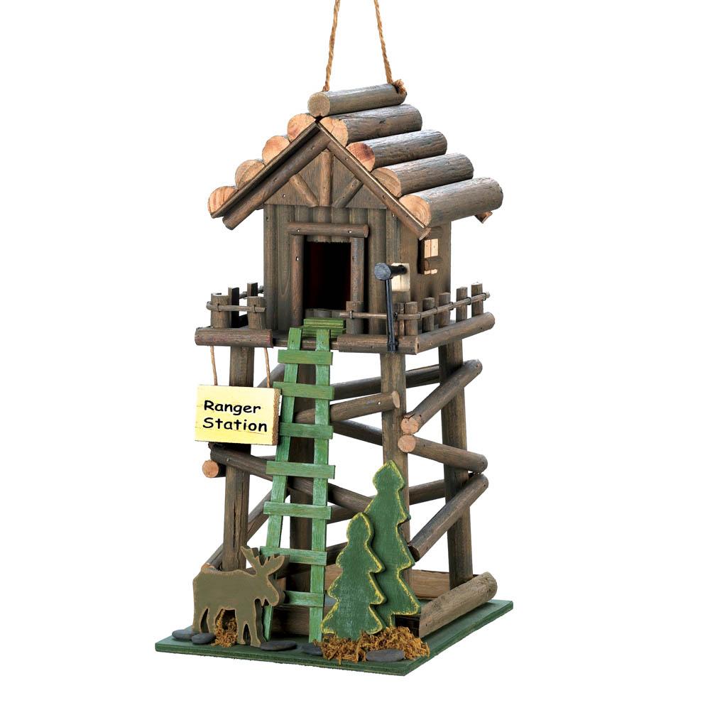 �Ranger Station Wooden Birdhouse
