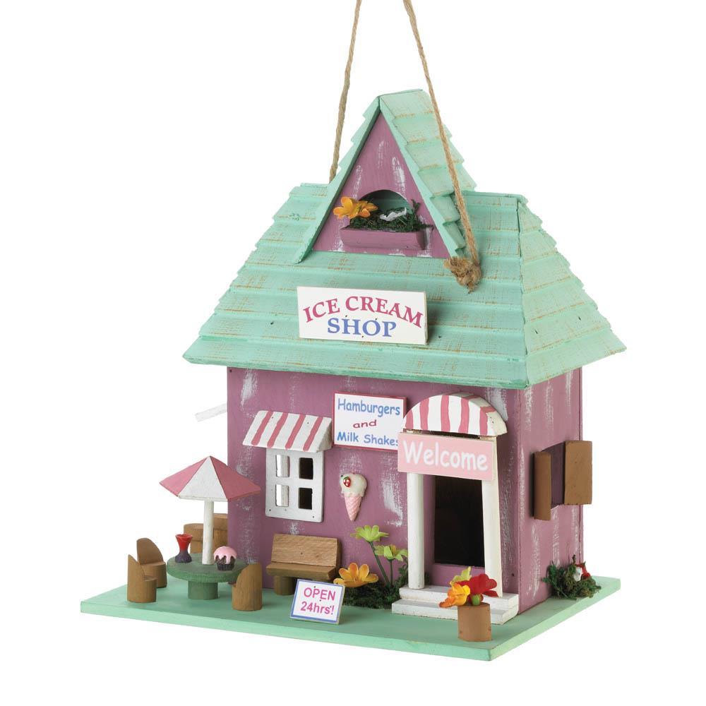 Ice Cream Shop Birdhouse