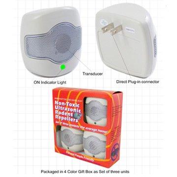 3-pack Single Speaker Rodent Repeller