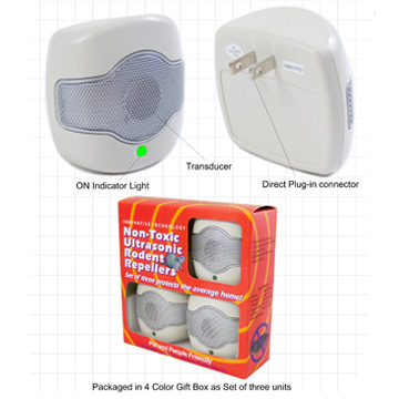 3-pack Single Speaker Rodent Repeller