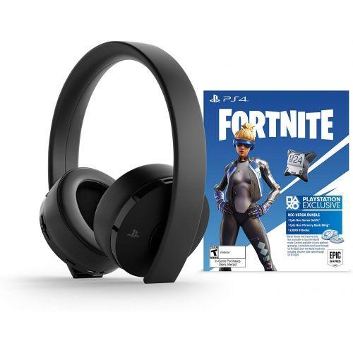 PS4 Gold Wls Hdst Blk Fortnite