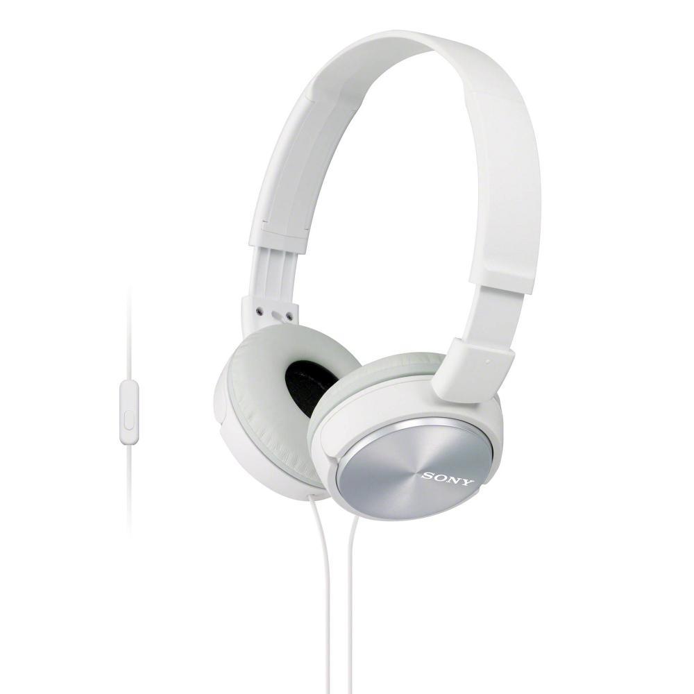 Sony MDR-ZX310AP/W Lightweight, Folding Stereo Headset (White)