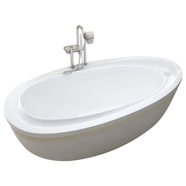 Tullia 38 x 71 x 20 in. Oval Freestanding Soaker Bathtub