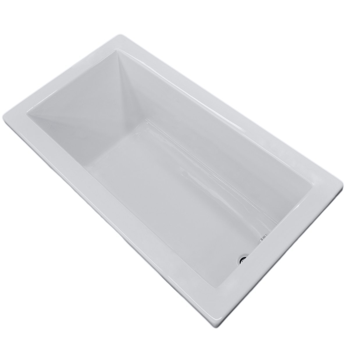 "Villa Rectangular Soaking Bathtub, 42""x72"""