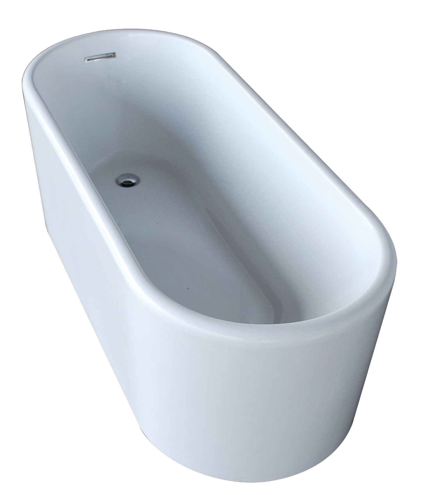Vida Collection 28 in. by 67 in. Oval Acrylic Freestanding Bathtub