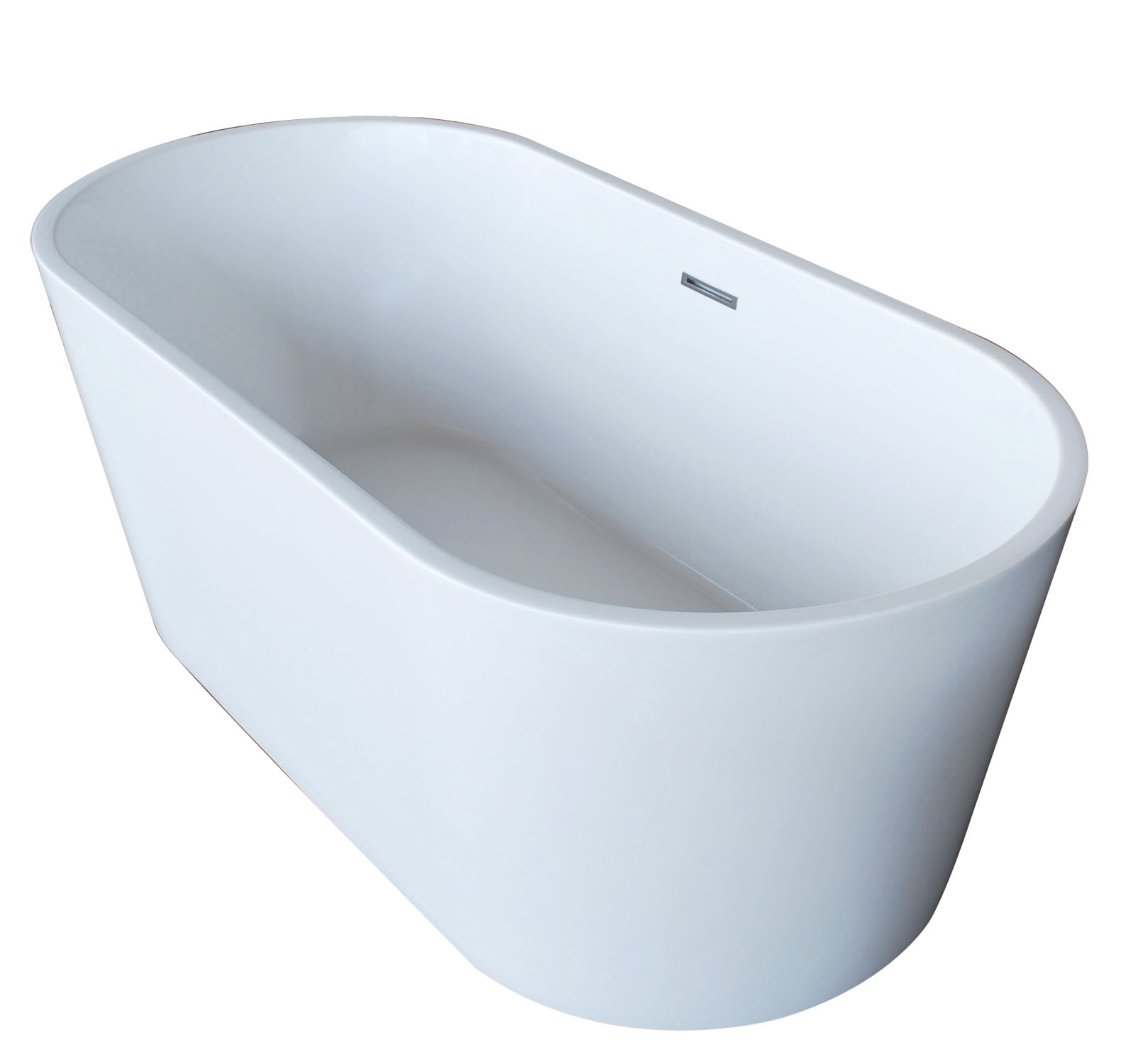 Vida Collection 32 in. by 67 in. Oval Acrylic Freestanding Bathtub