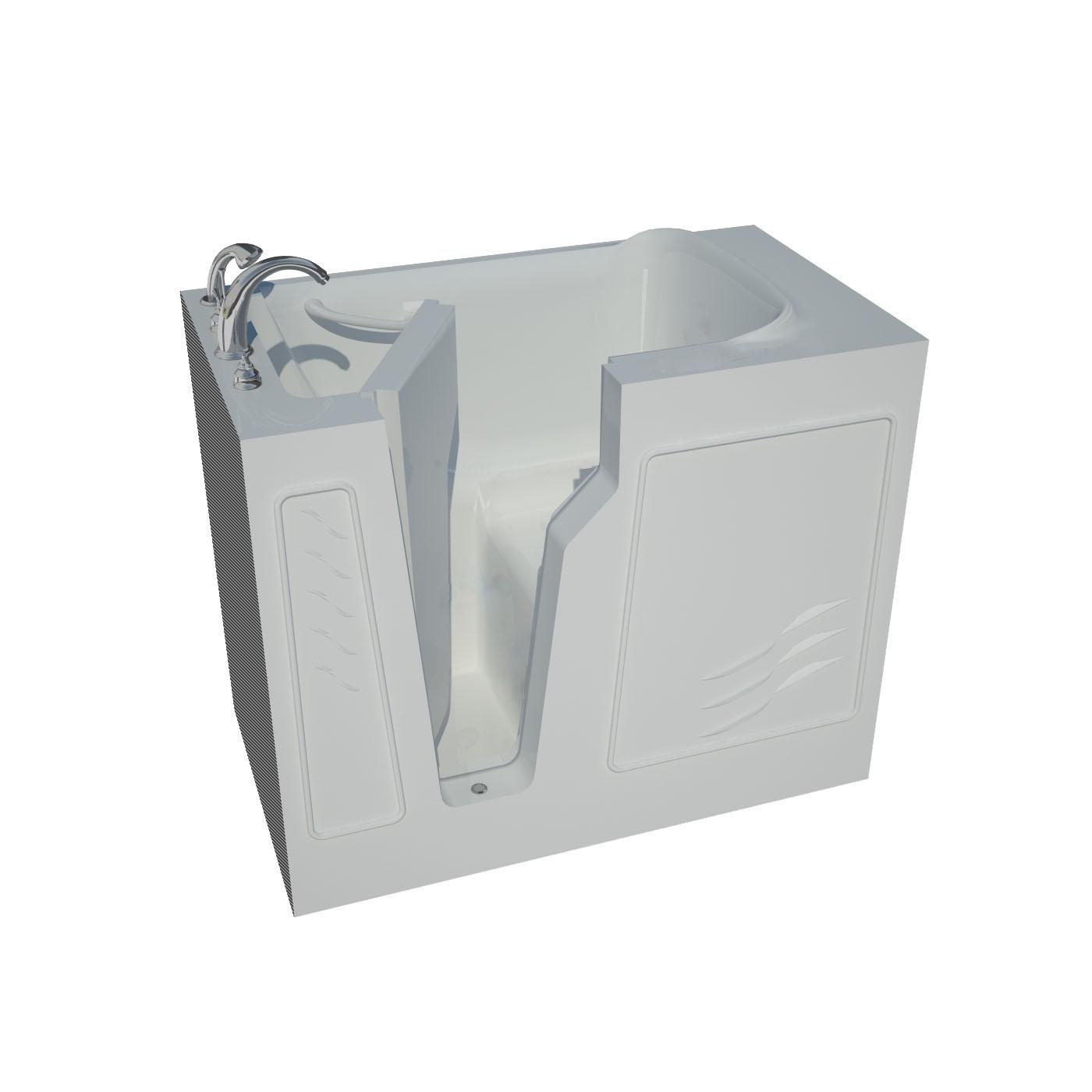 26 x 46 Left Drain Soaking Walk-In Bathtub in White