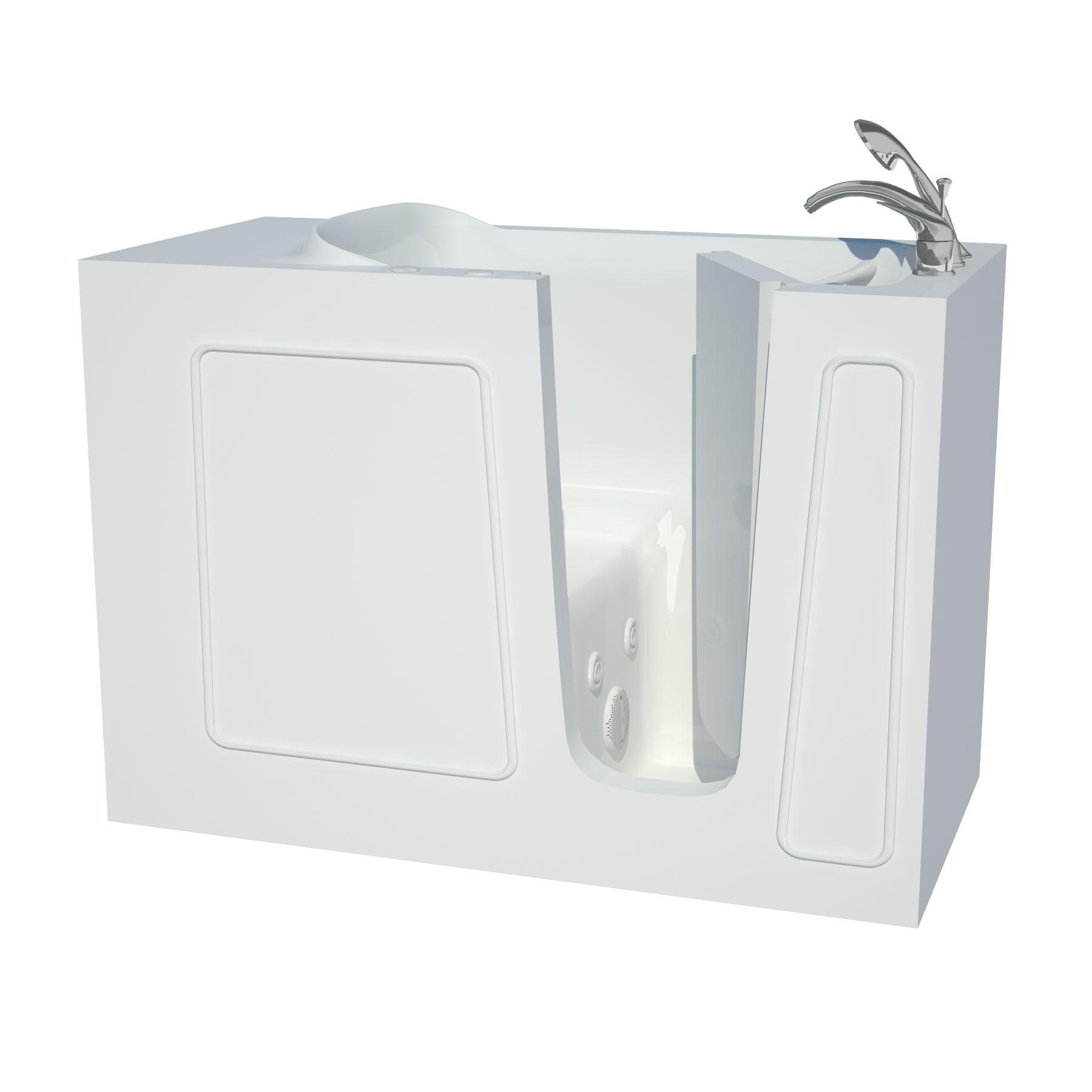 26 x 53 White Whirlpool Walk-In Tub Right
