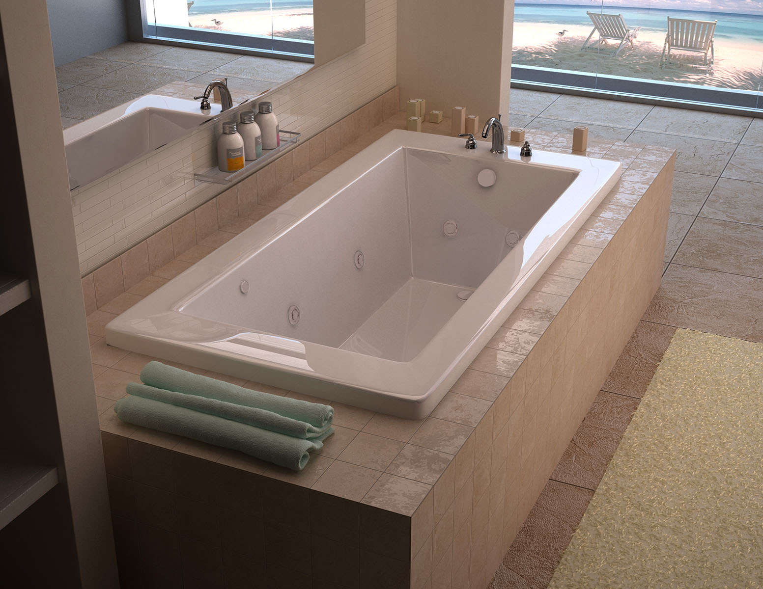 Villa 36 x 72 Rectangular Whirlpool Jetted Bathtub