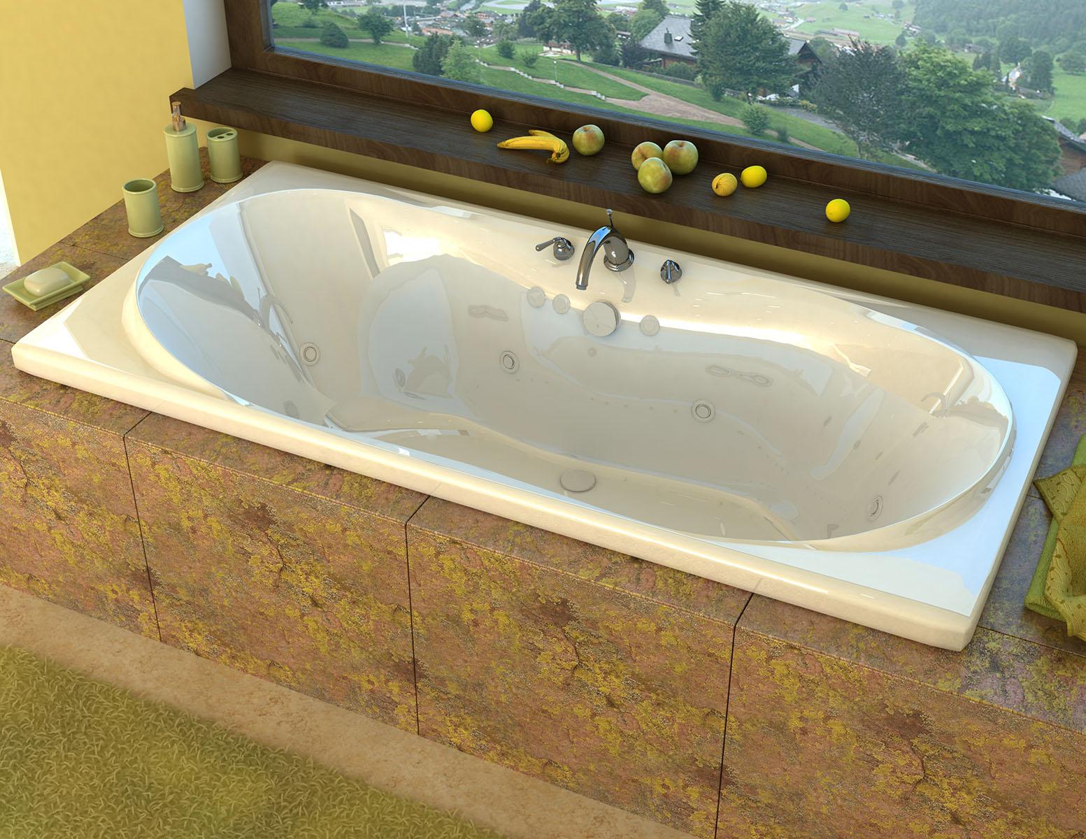 Bello 42 x 72 Rectangular Whirlpool Jetted Bathtub