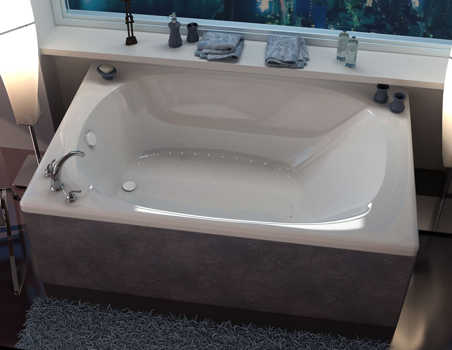 Aqui 48 x 78 Corner Air Jetted Bathtub