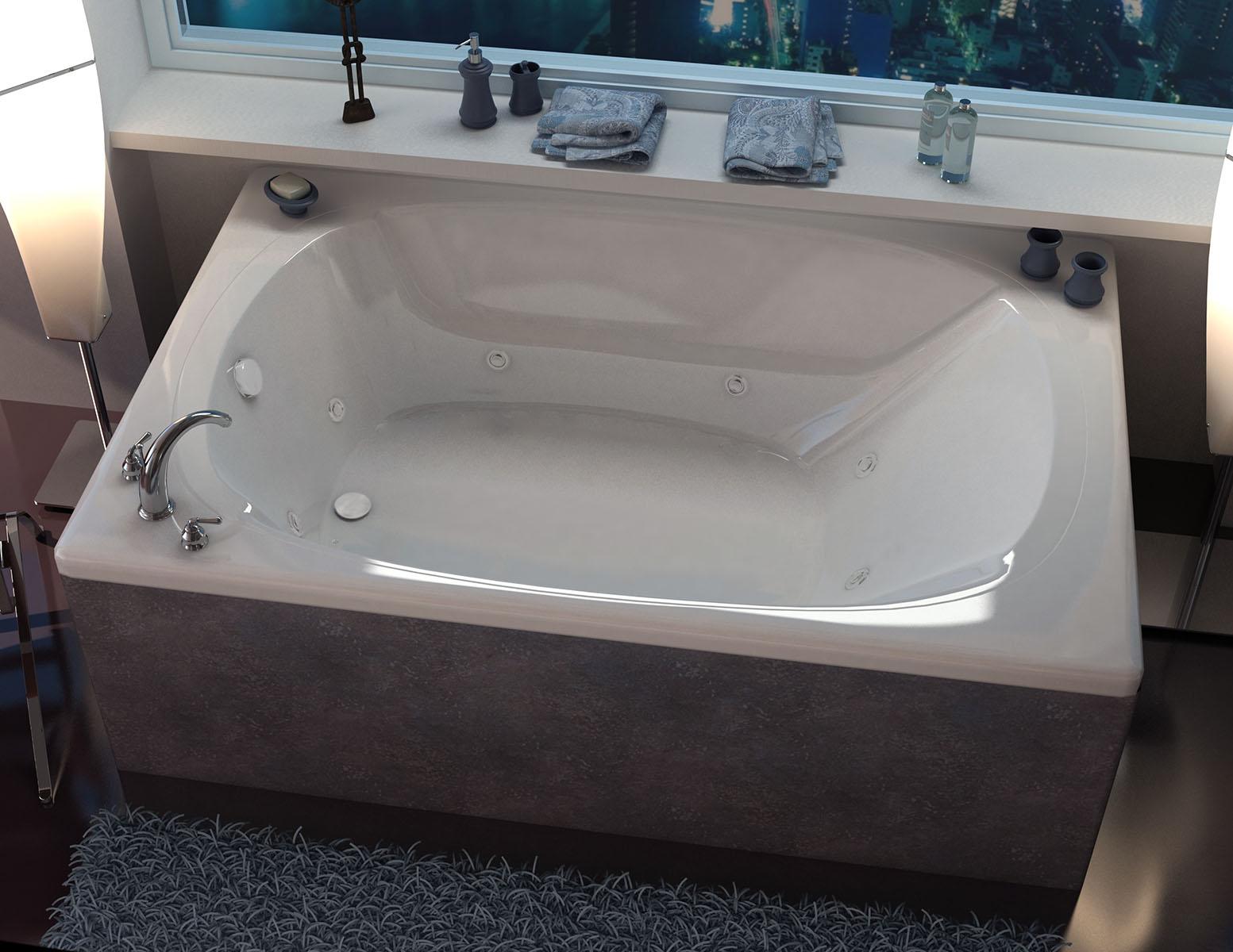 Aqui 48 x 78 Corner Whirlpool Jetted Bathtub