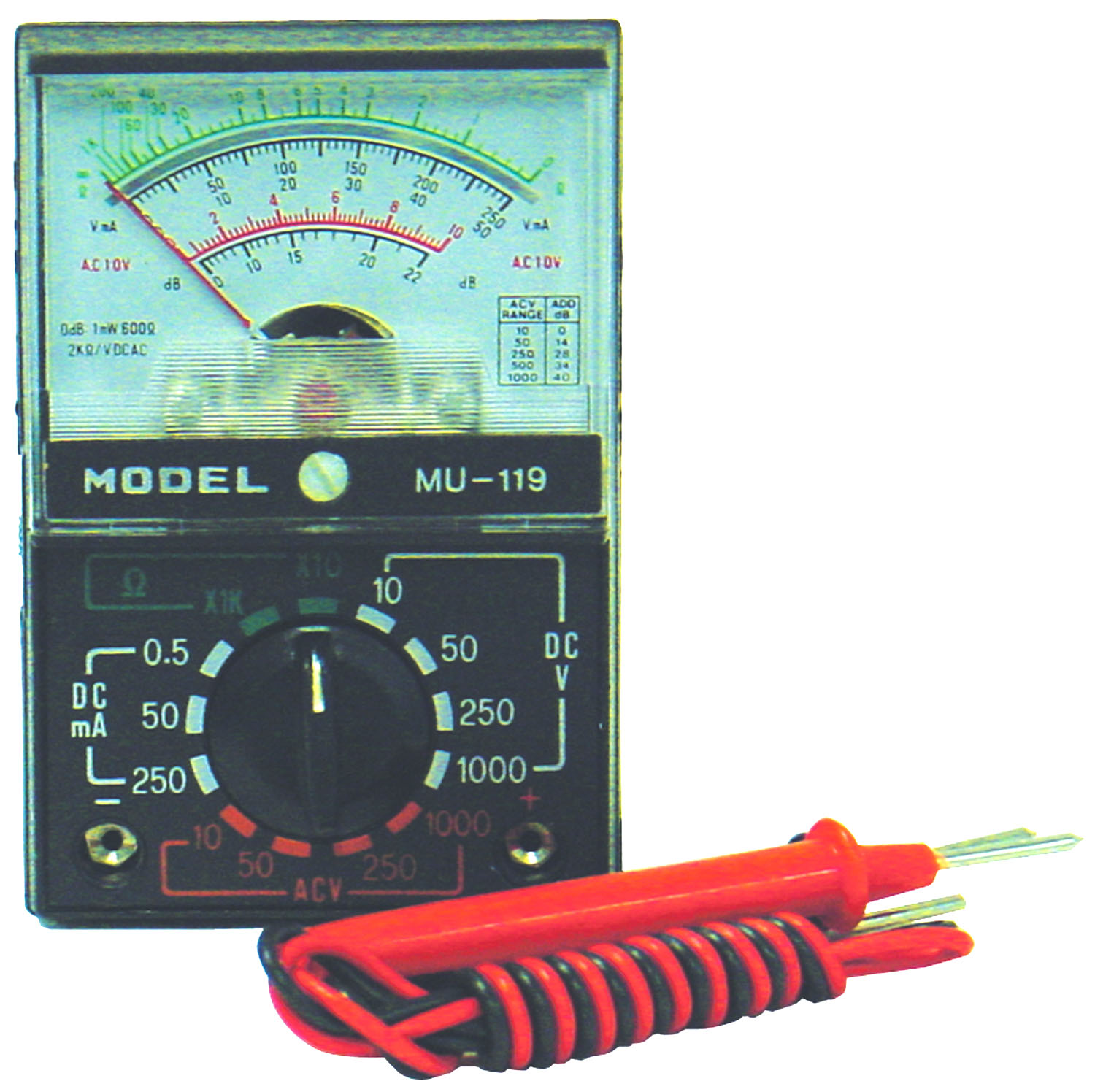 2K OHMS/VOLT PORTBLE MULTITEST METER