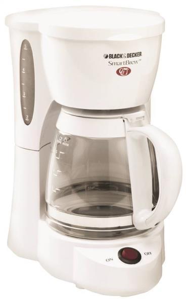 Black+Decker 5-Cup Coffee Maker, White