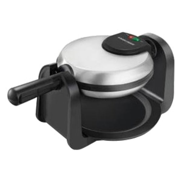 Black Decker Rotary Waffle Maker  Black Stainless Steel