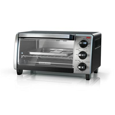 B&D 4 Slice Toaster Oven SSBlk
