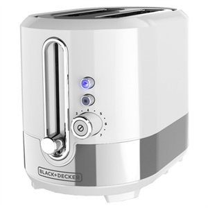 BD 2-Slice Toaster SS Wht