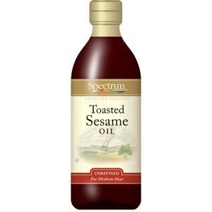 Spectrum Naturals Unrefined Toasted Sesame Oil ( 6x8 Oz)