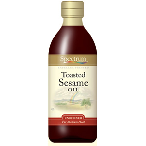 Spectrum Naturals Toasted Unrefined Sesame Oil ( 6x8 Oz)