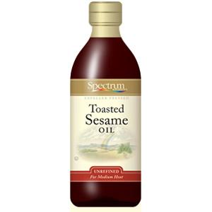 Spectrum Naturals Toasted Unrefined Sesame Oil (12x16 Oz)