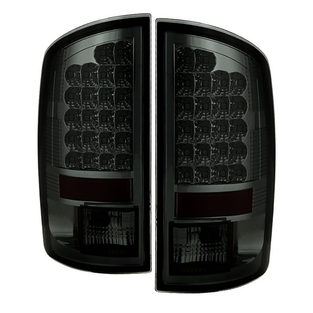 02-06 RAM 1500/03-06 RAM 2500/3500 LED STYLE TAIL LIGHTS-SMOKE