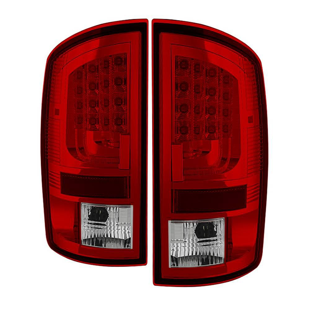 02-06 RAM 1500/03-06 RAM 2500/3500 VERSION 2 LED TAIL LIGHT-RED CLEAR
