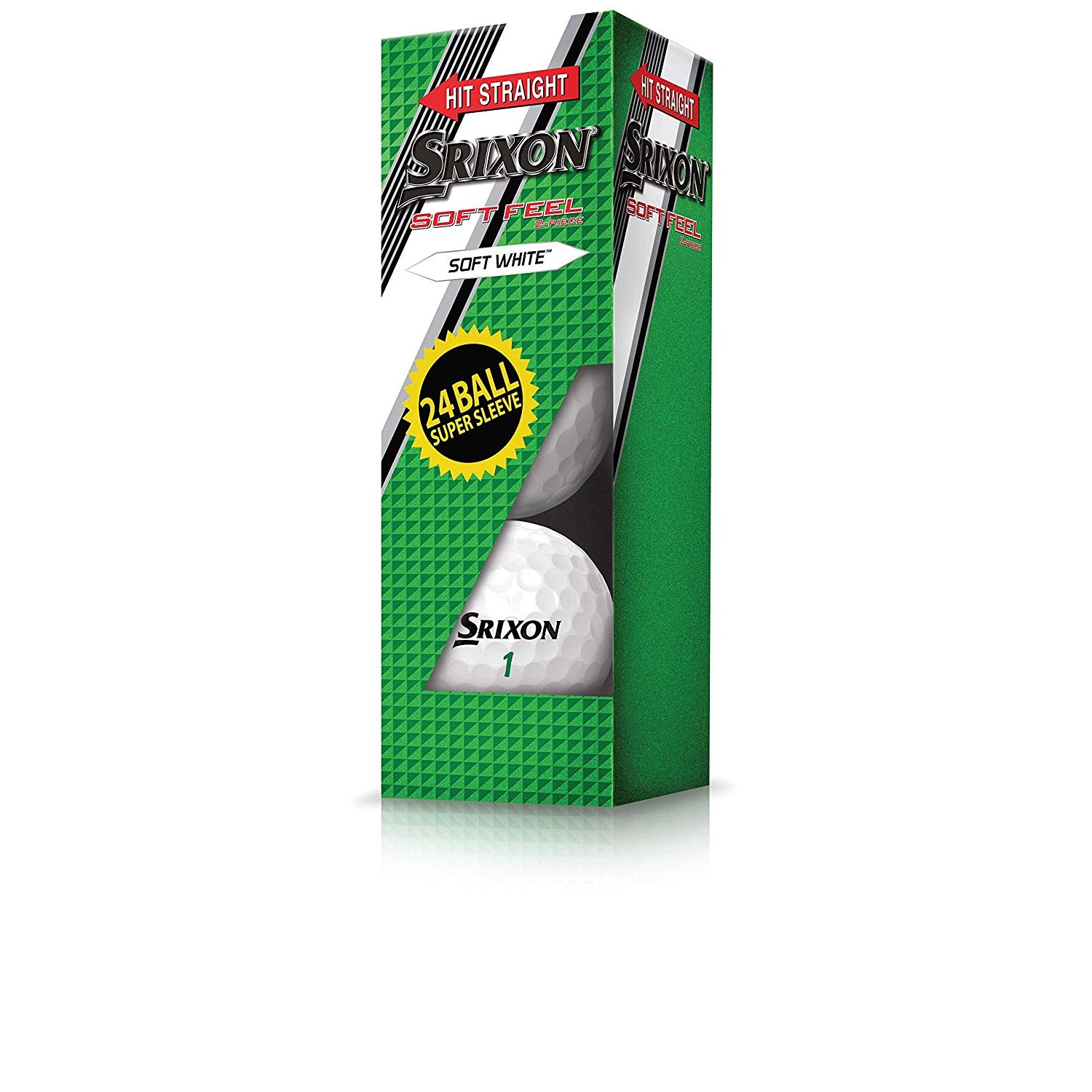 Srixon Soft Feel Supersleeve Golf Ball-White-24pk