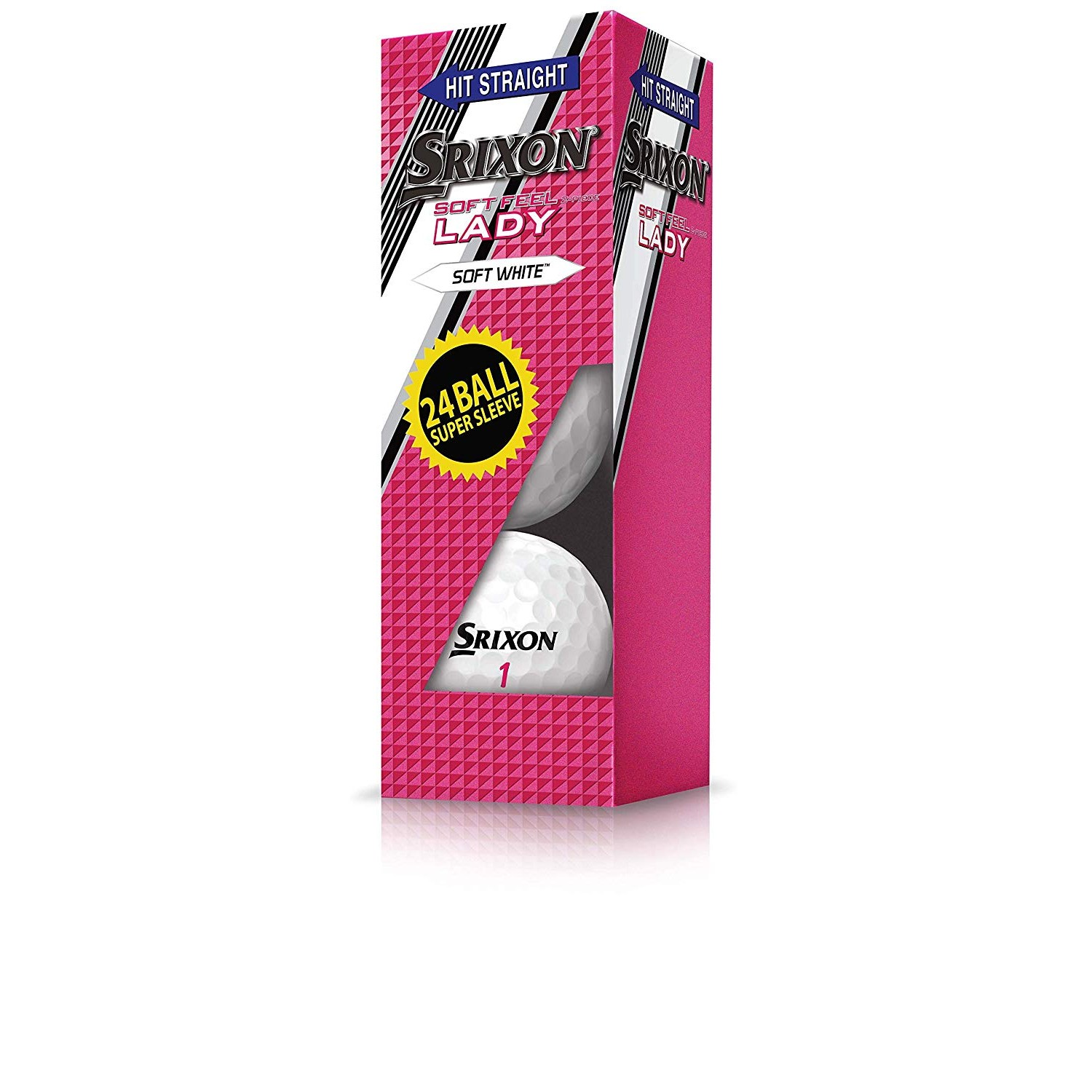 Srixon Soft Feel Lady Supersleeve Golf Ball-White-24pk