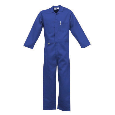 Stanco NX4681NB3XL 3X Navy Blue 4.5 Ounce Nomex� IIIA Flame Retardant Coverall With Front Zipper Closure And Elastic Waistband