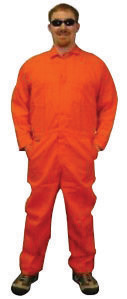 Stanco X-Large Orange 4.5 Ounce Nomex� IIIA Flame Retardant Coverall With Front Zipper Closure And Elastic Waistband