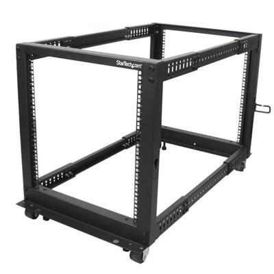 12U Adj Depth 4 Post Rack