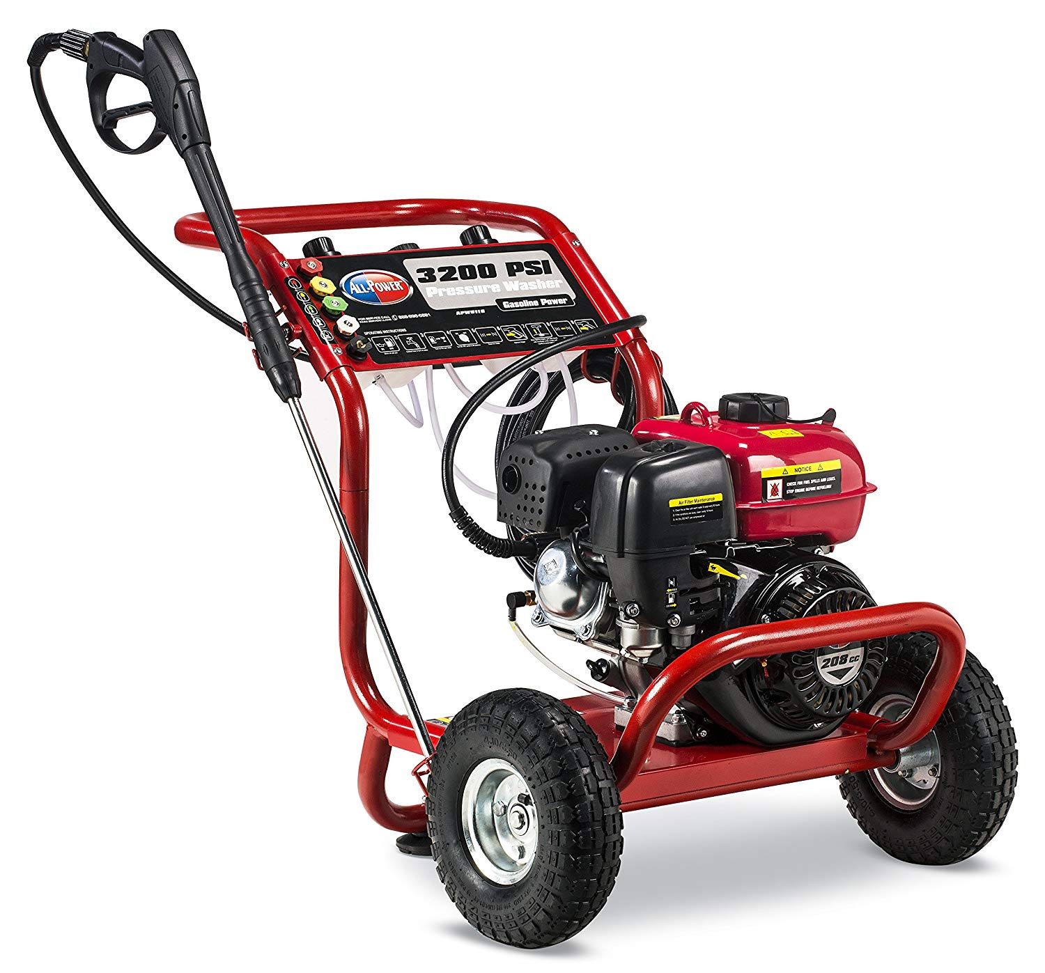 3200 PSI 2.6 GPM Gas Powered Pressure Washer CARB & EPA Approved