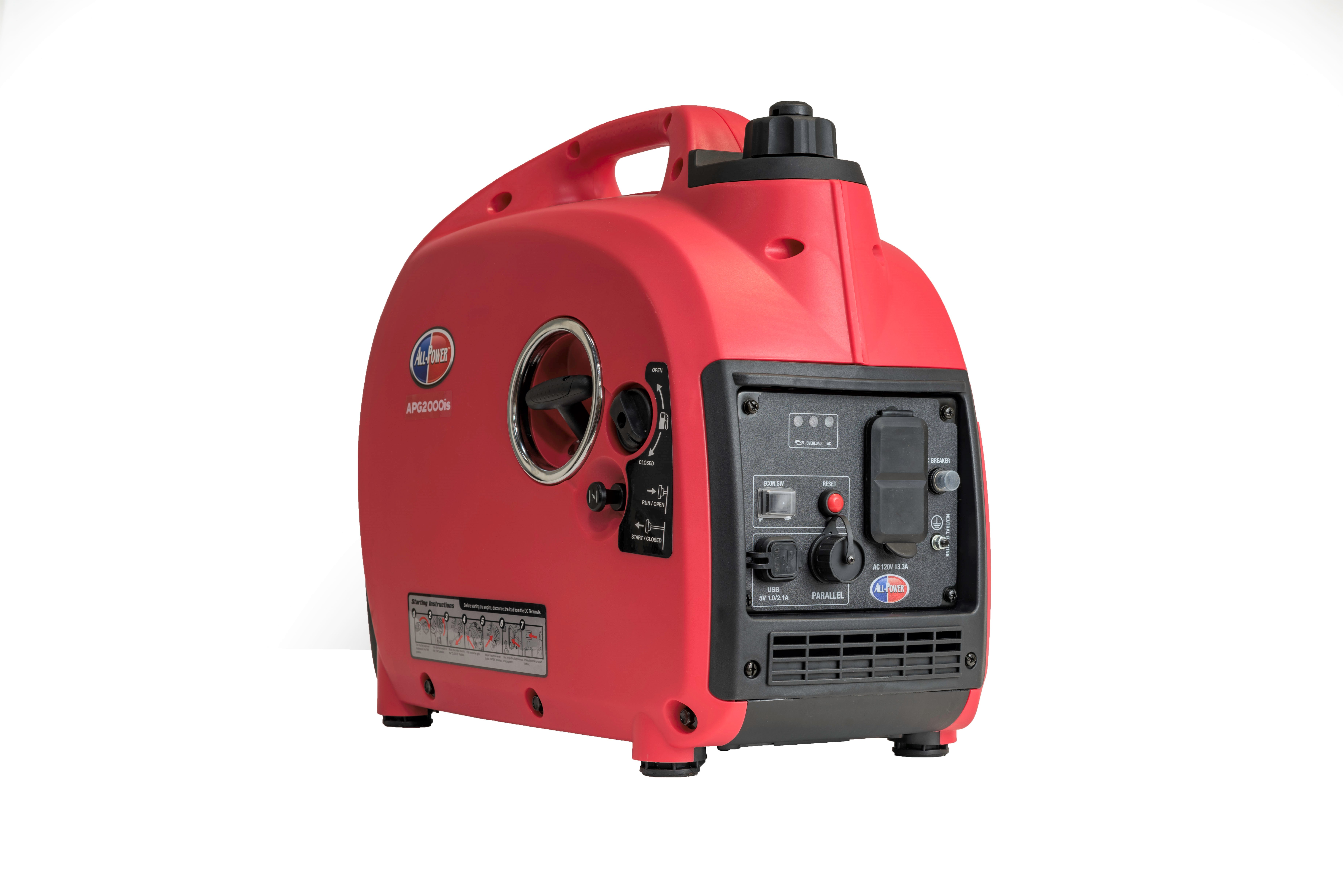 2000-Watt Gas Powered Portable Inverter Generator with Parallel Function Ready