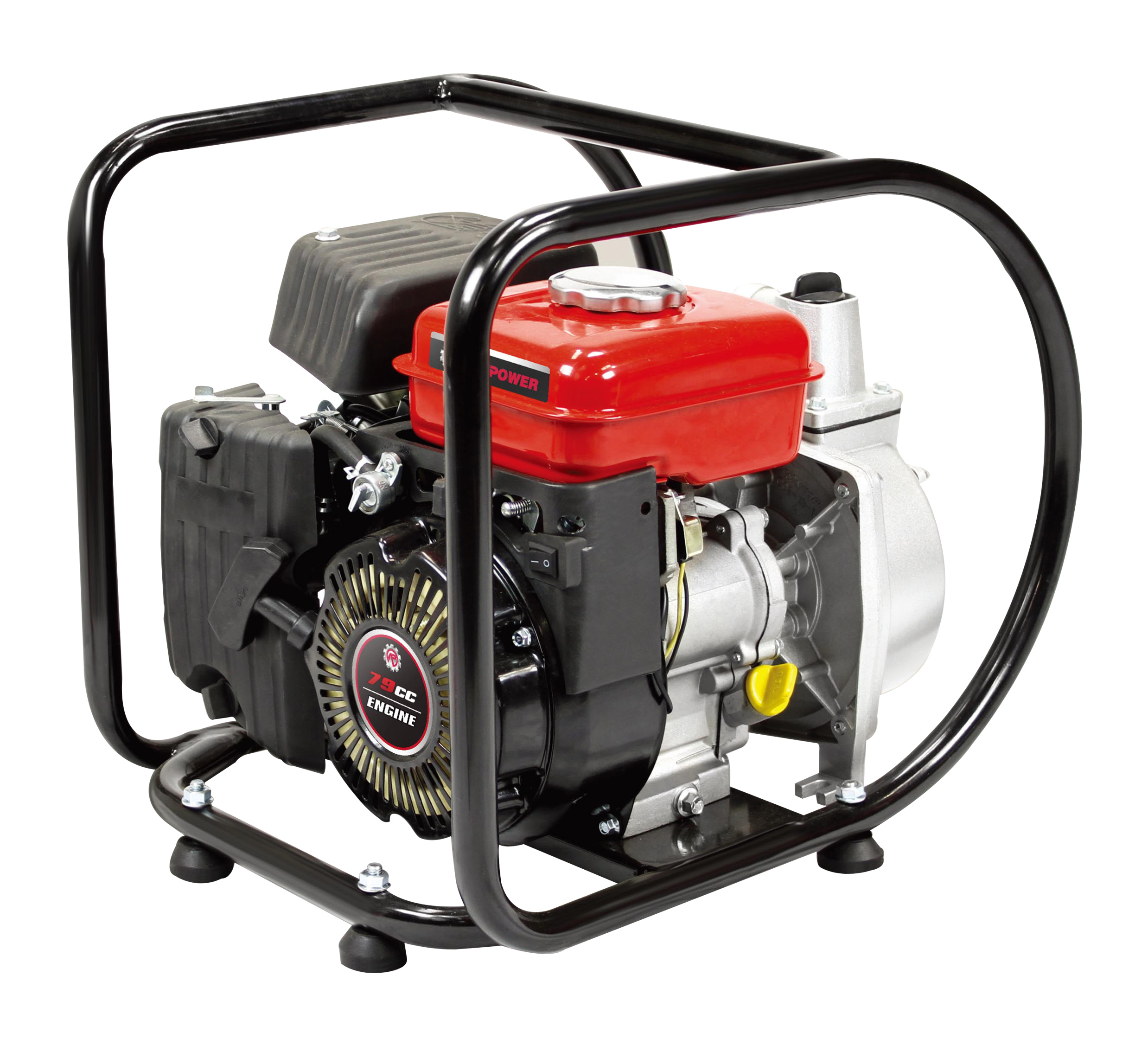 2.5 HP Gas Powered Semi-Trash Water Pump, 1.5 inch, Black/Red