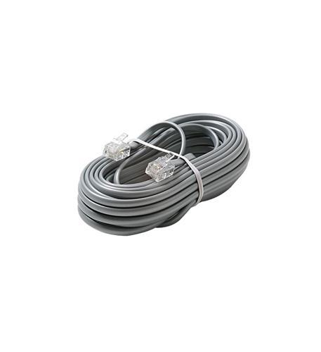 4C 15' Silver Modular Line Cord