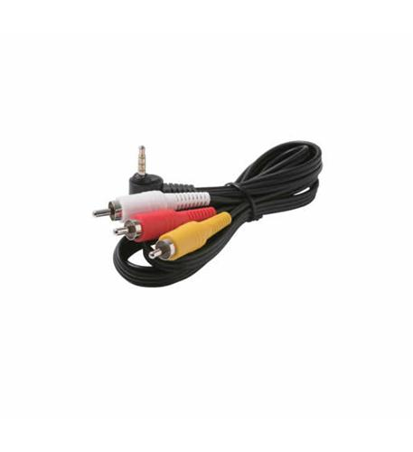 6' 3.5mm to 3-RCA Camcorder Cable
