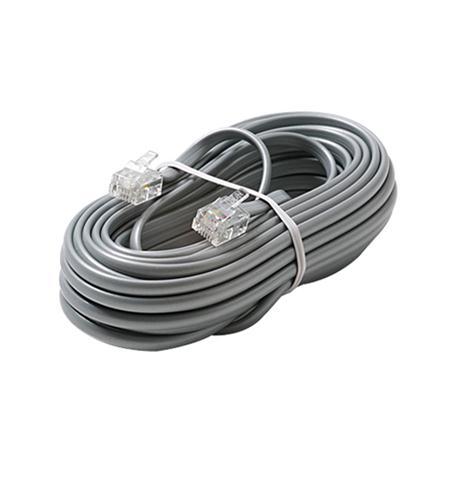 6C 7' Silver Modular Line Cord